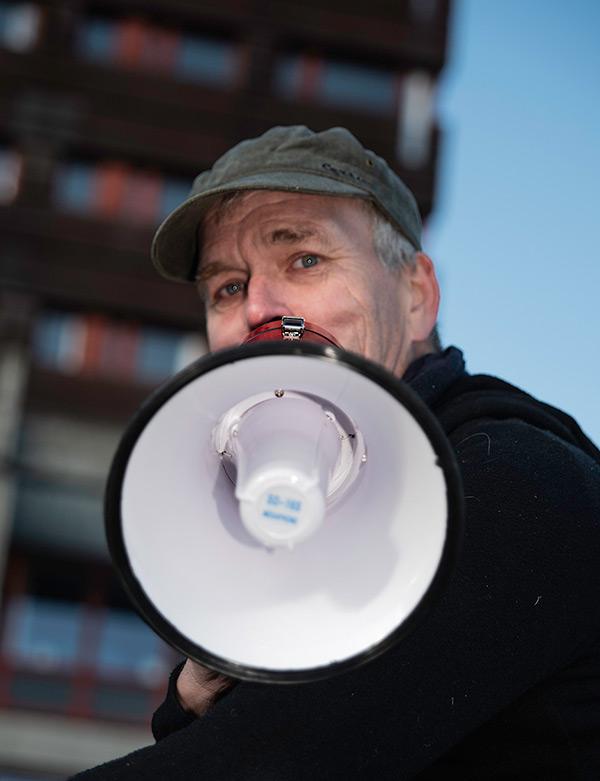 """""""Vi har eget smittevernkorps"""", forsikrer festivalsjef Glenn Erik Haugland. Foto: Ingrid Eide"""